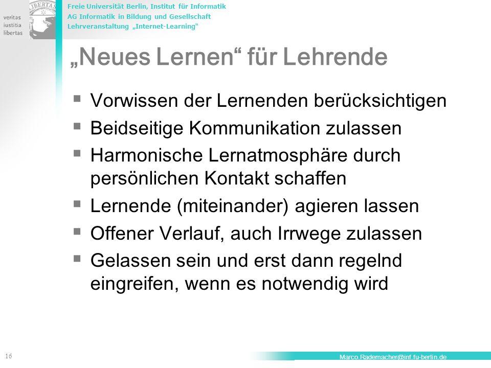 """""""Neues Lernen für Lehrende"""