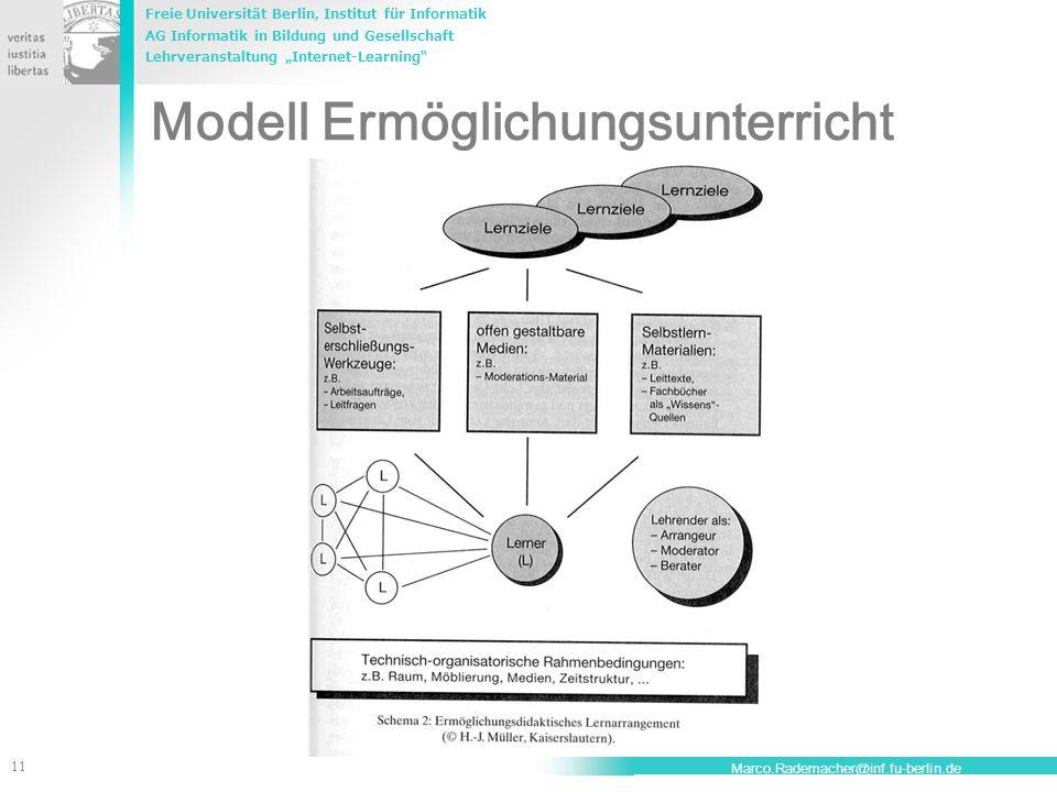 Modell Ermöglichungsunterricht