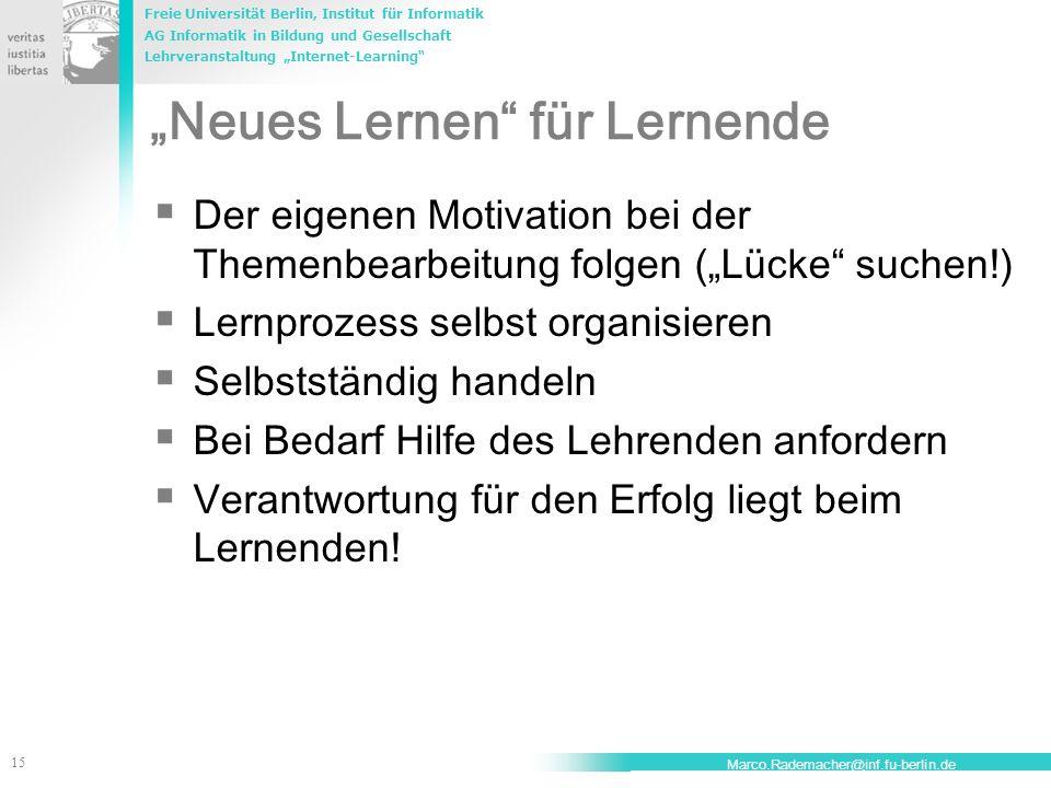 """""""Neues Lernen für Lernende"""
