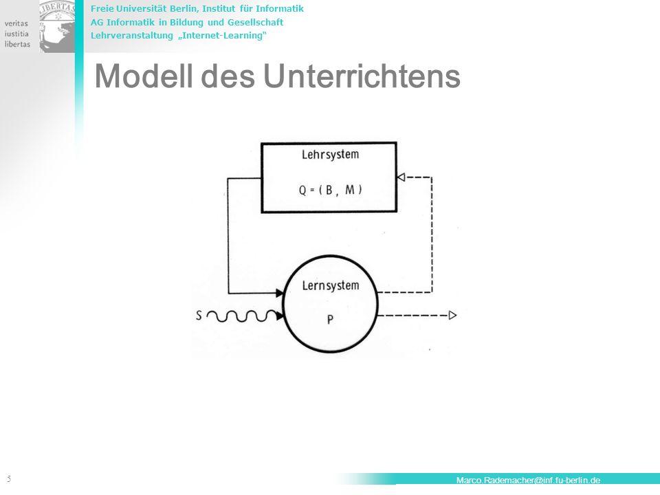 Modell des Unterrichtens