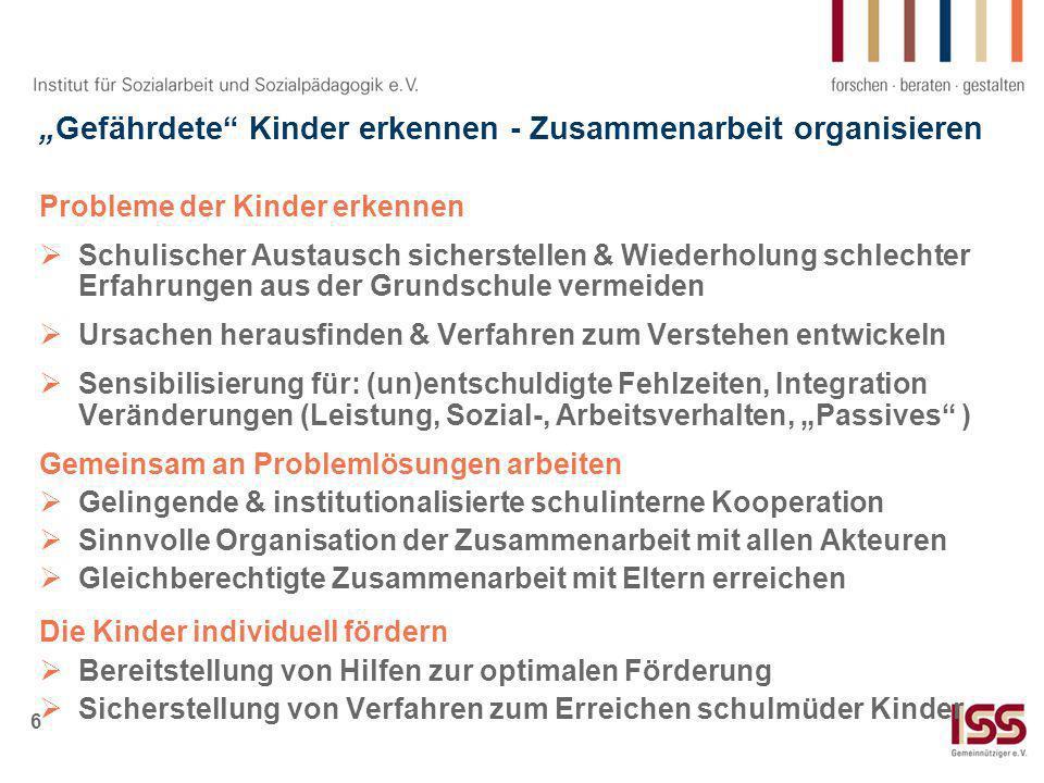 """""""Gefährdete Kinder erkennen - Zusammenarbeit organisieren"""
