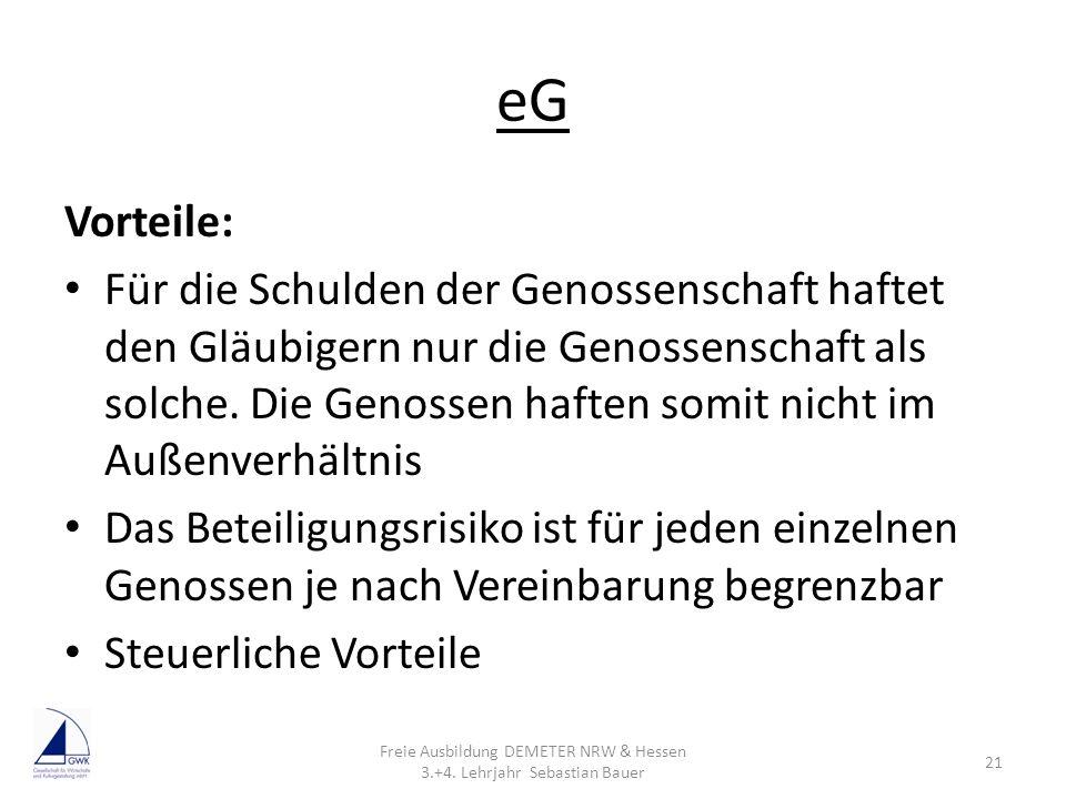 Freie Ausbildung DEMETER NRW & Hessen 3.+4. Lehrjahr Sebastian Bauer