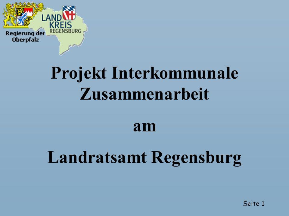 Projekt Interkommunale Zusammenarbeit Landratsamt Regensburg
