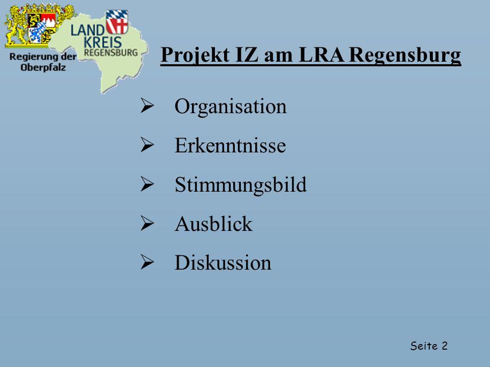 Projekt IZ am LRA Regensburg