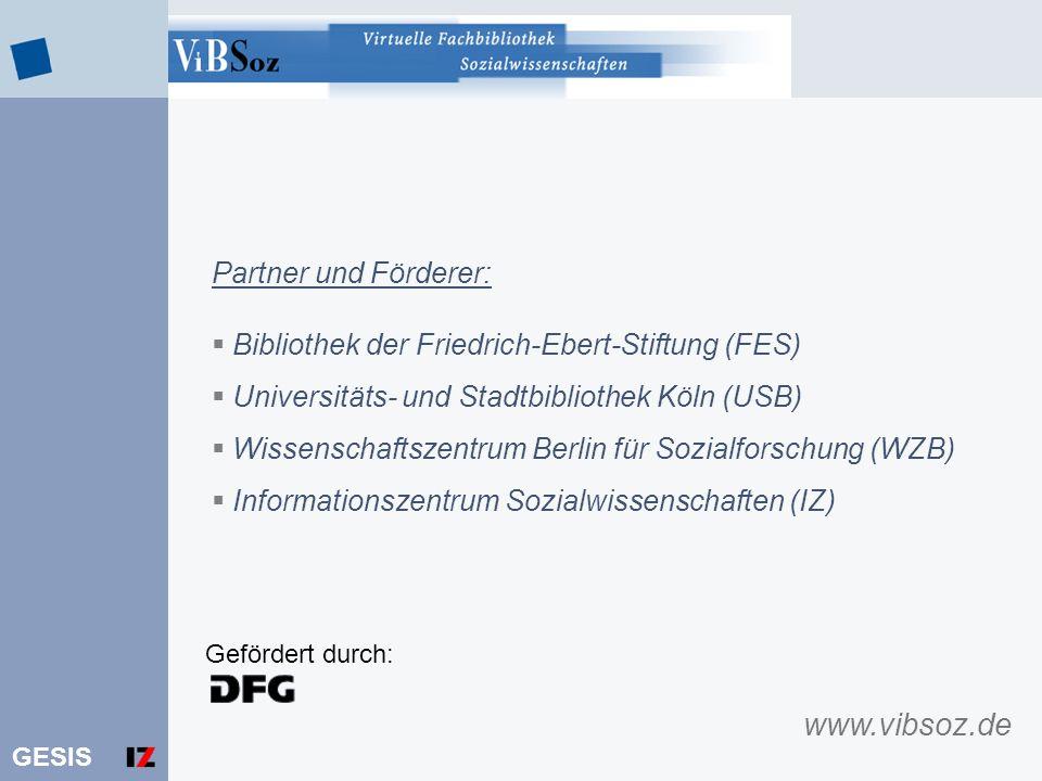 www.vibsoz.de Partner und Förderer: