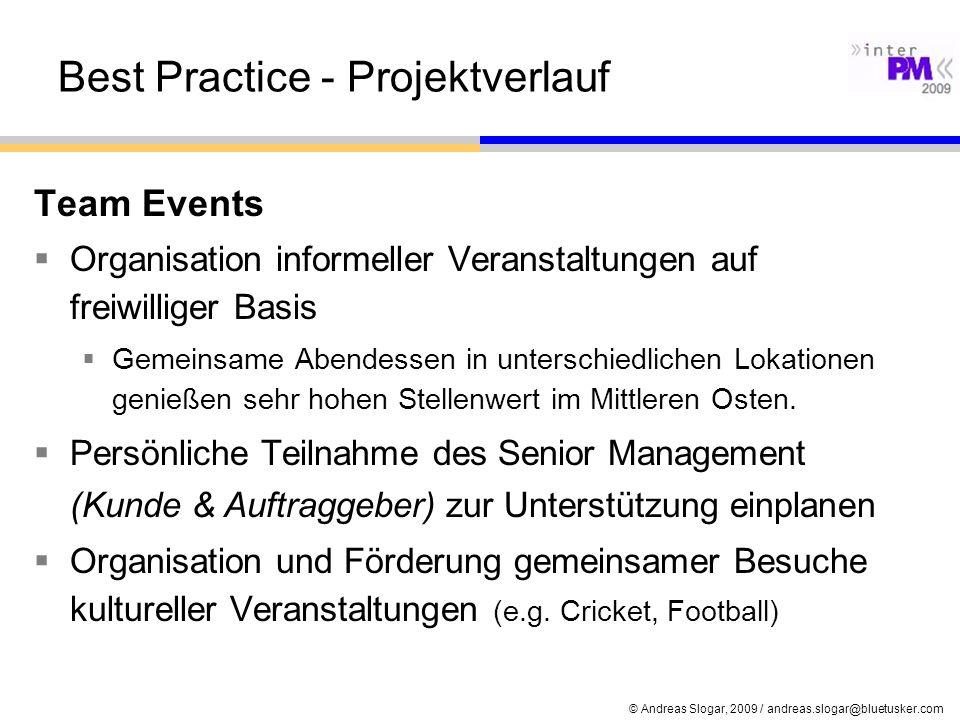 Best Practice - Projektverlauf