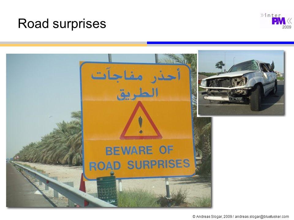 Road surprises © Andreas Slogar, 2009 / andreas.slogar@bluetusker.com