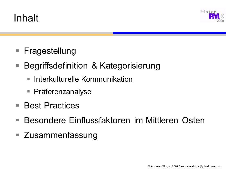 Inhalt Fragestellung Begriffsdefinition & Kategorisierung