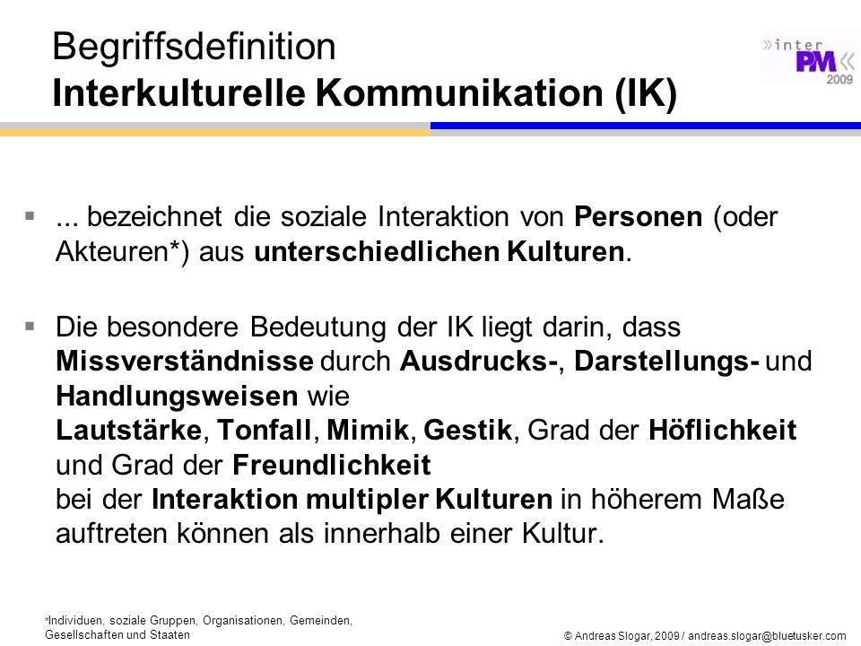 Begriffsdefinition Interkulturelle Kommunikation (IK)