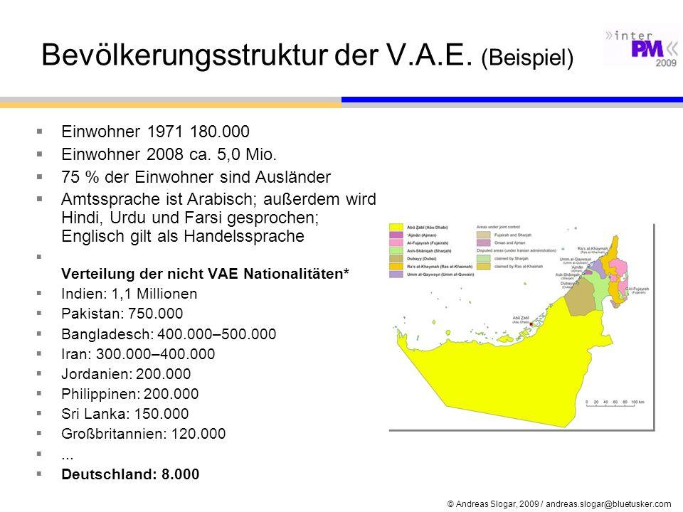Bevölkerungsstruktur der V.A.E. (Beispiel)