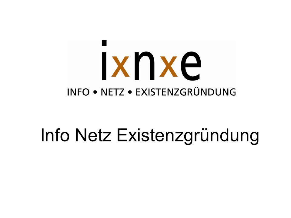 Info Netz Existenzgründung