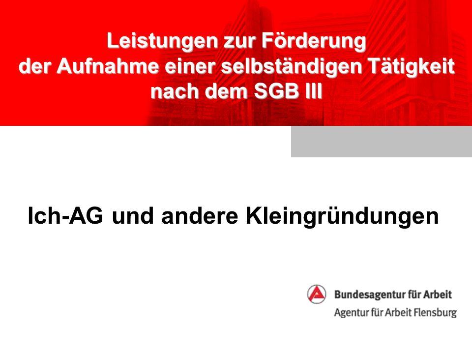 Ich-AG und andere Kleingründungen