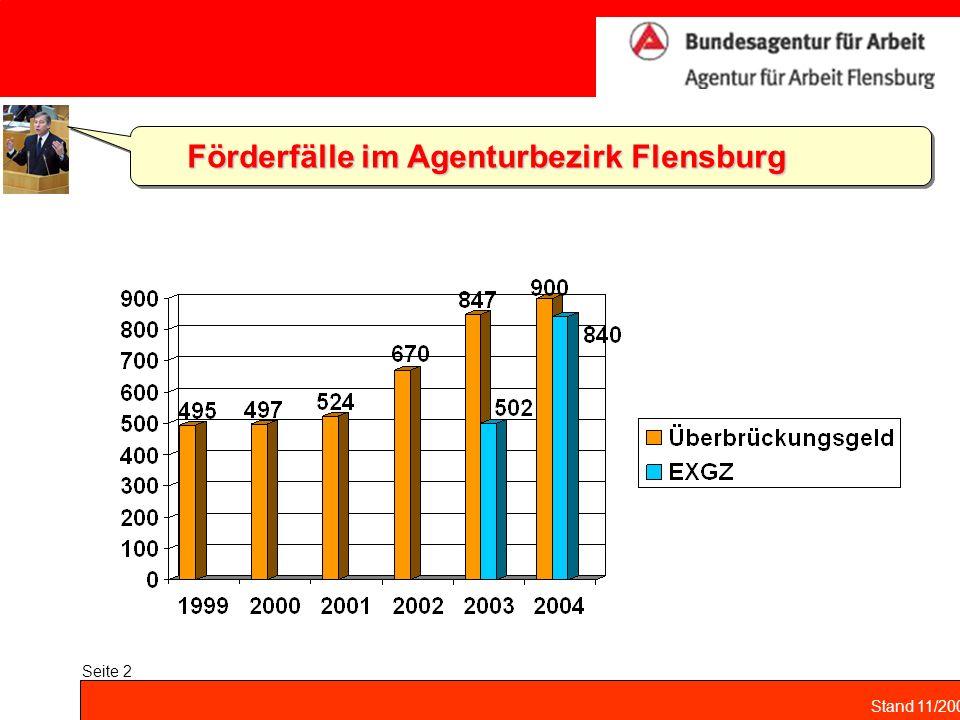 Förderfälle im Agenturbezirk Flensburg