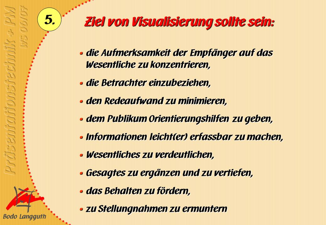 Ziel von Visualisierung sollte sein: