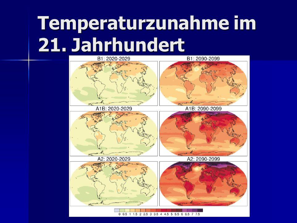 Temperaturzunahme im 21. Jahrhundert