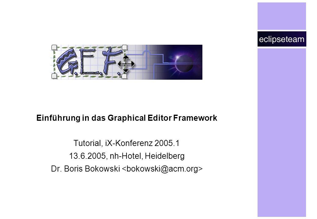 Einführung in das Graphical Editor Framework Tutorial, iX-Konferenz 2005.1 13.6.2005, nh-Hotel, Heidelberg Dr.