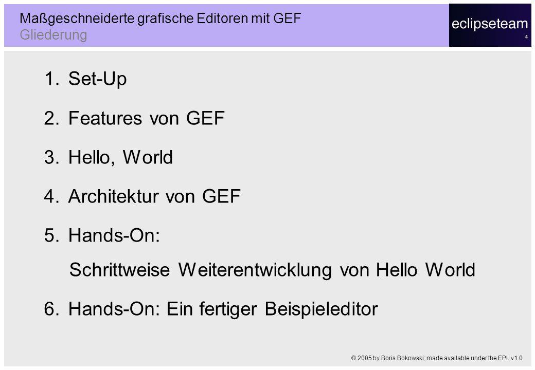 Maßgeschneiderte grafische Editoren mit GEF Gliederung