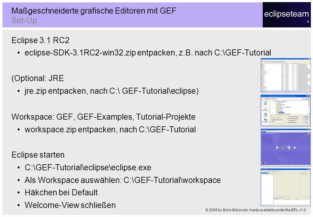 Maßgeschneiderte grafische Editoren mit GEF Set-Up