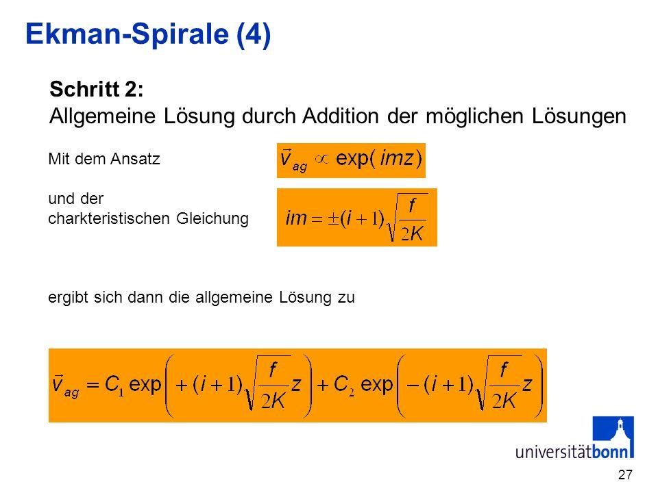 Ekman-Spirale (4) Schritt 2: