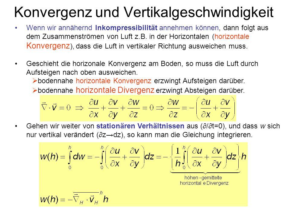 Konvergenz und Vertikalgeschwindigkeit