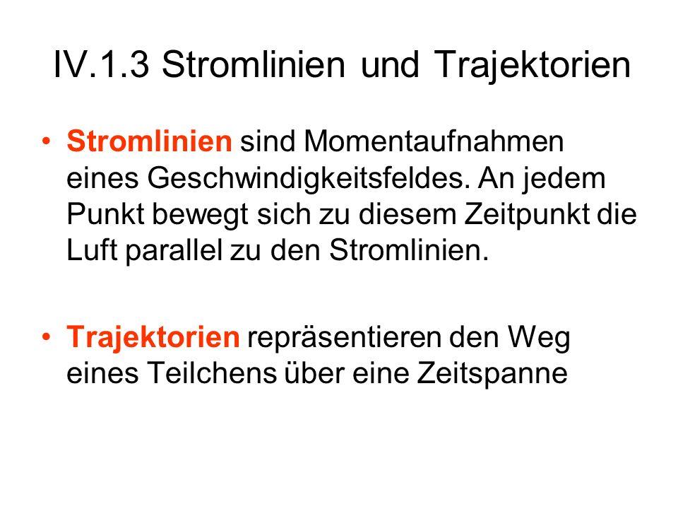 IV.1.3 Stromlinien und Trajektorien