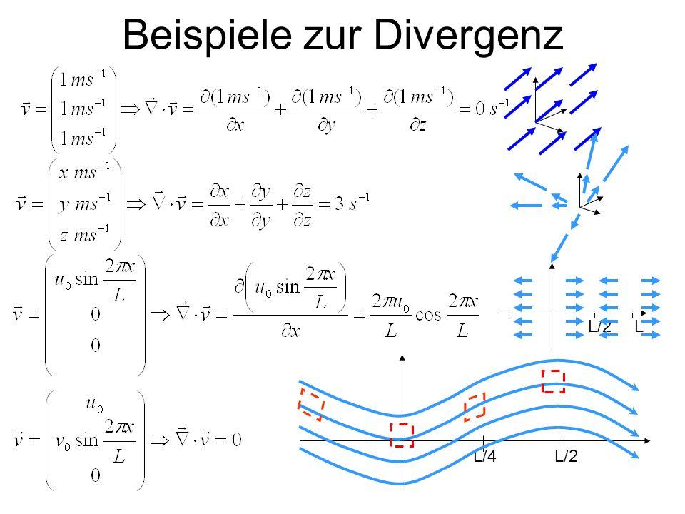 Beispiele zur Divergenz
