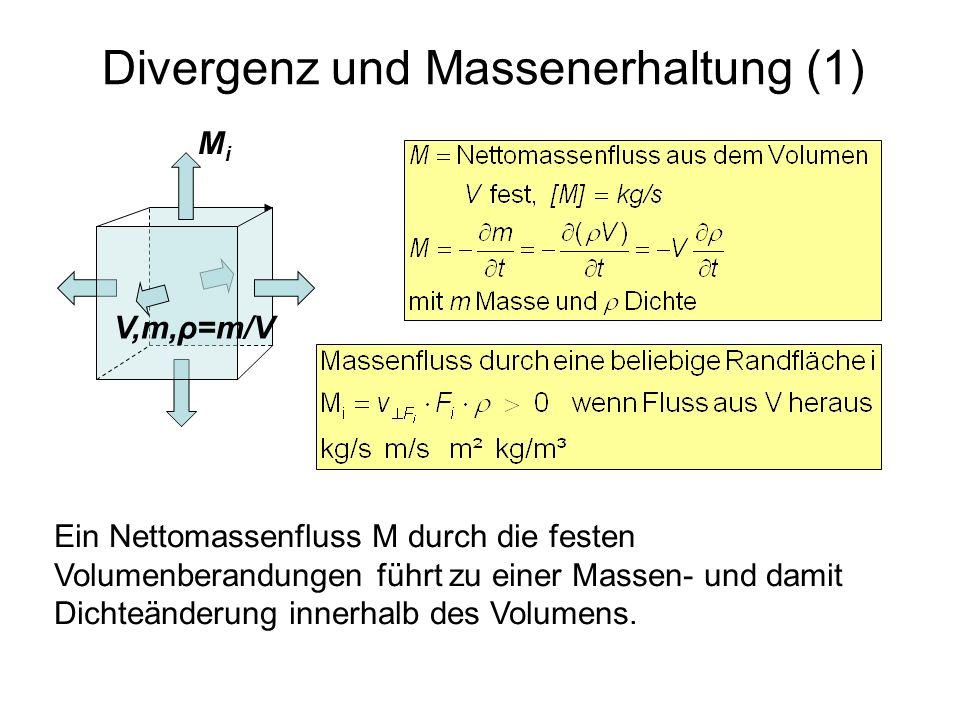 Divergenz und Massenerhaltung (1)