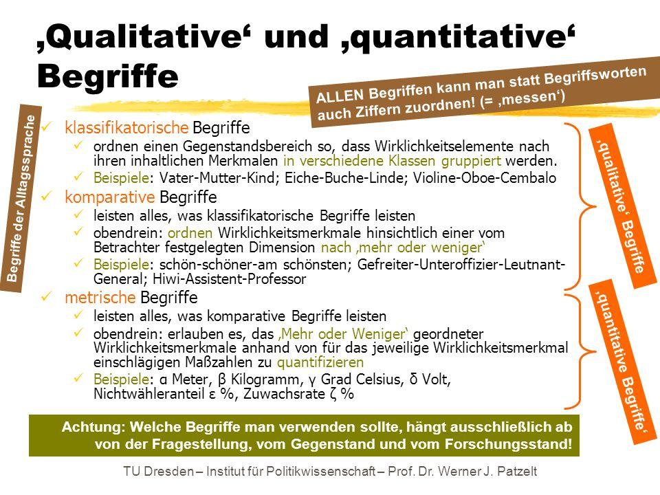 'Qualitative' und 'quantitative' Begriffe