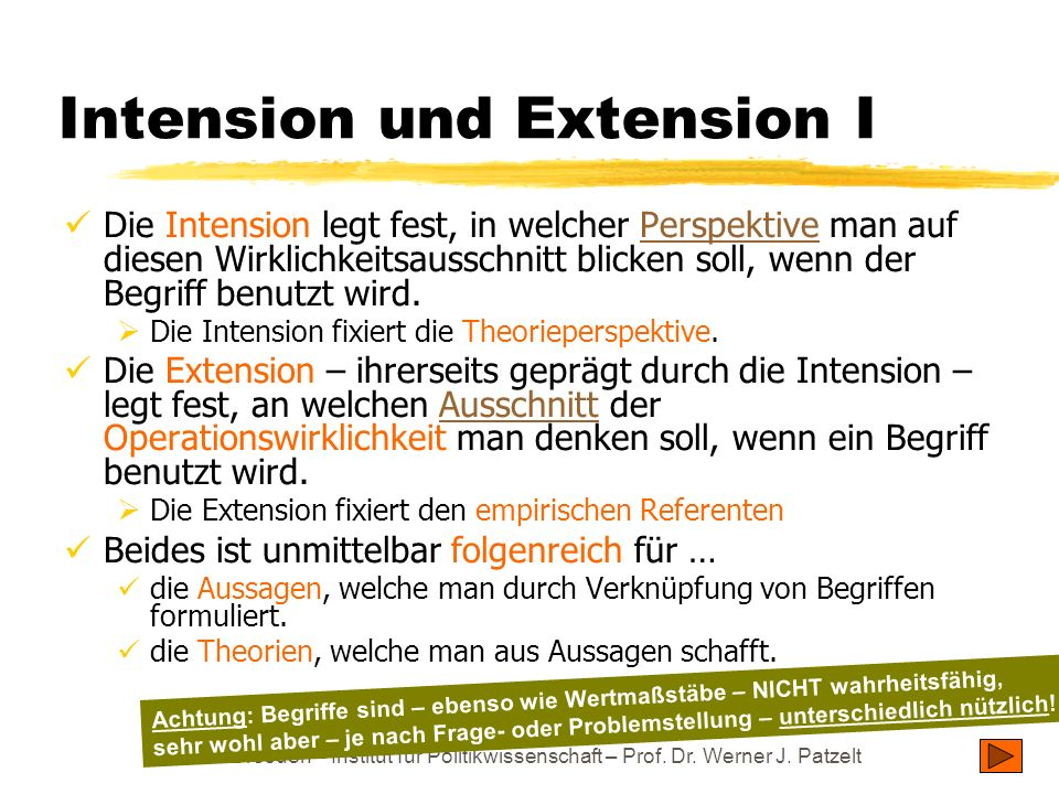 Intension und Extension I