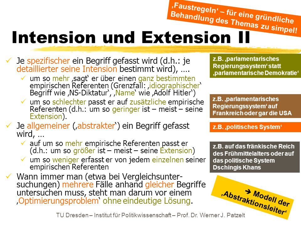 Intension und Extension II