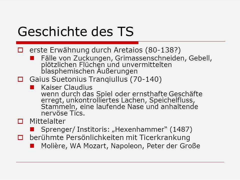 Geschichte des TS erste Erwähnung durch Aretaios (80-138 )