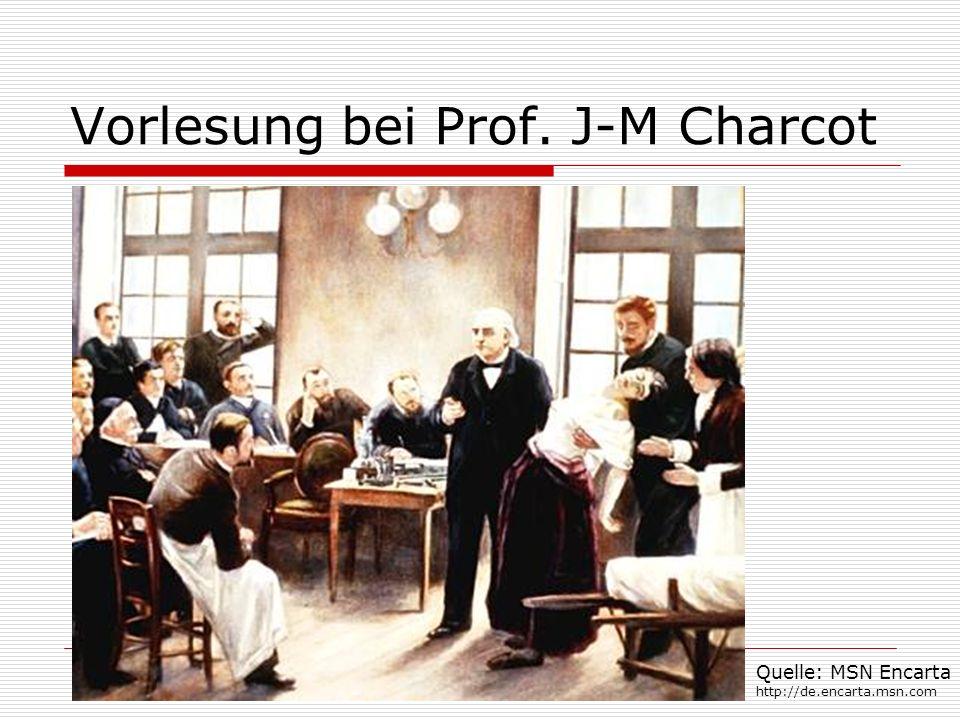 Vorlesung bei Prof. J-M Charcot