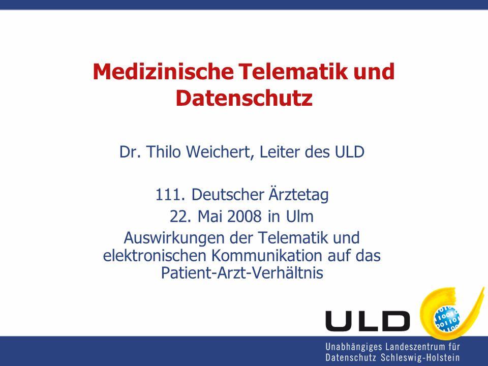 Medizinische Telematik und Datenschutz