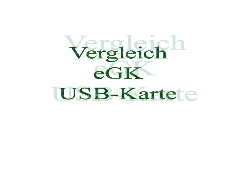 Vergleich eGK USB-Karte