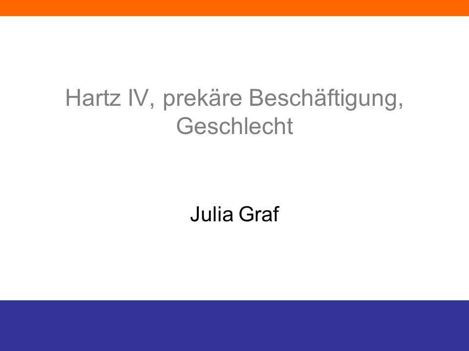 Hartz IV, prekäre Beschäftigung, Geschlecht