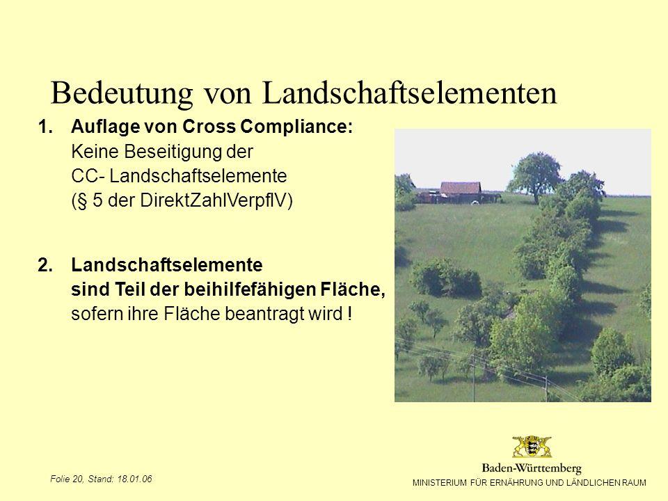 Bedeutung von Landschaftselementen