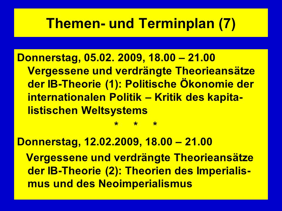 Themen- und Terminplan (7)