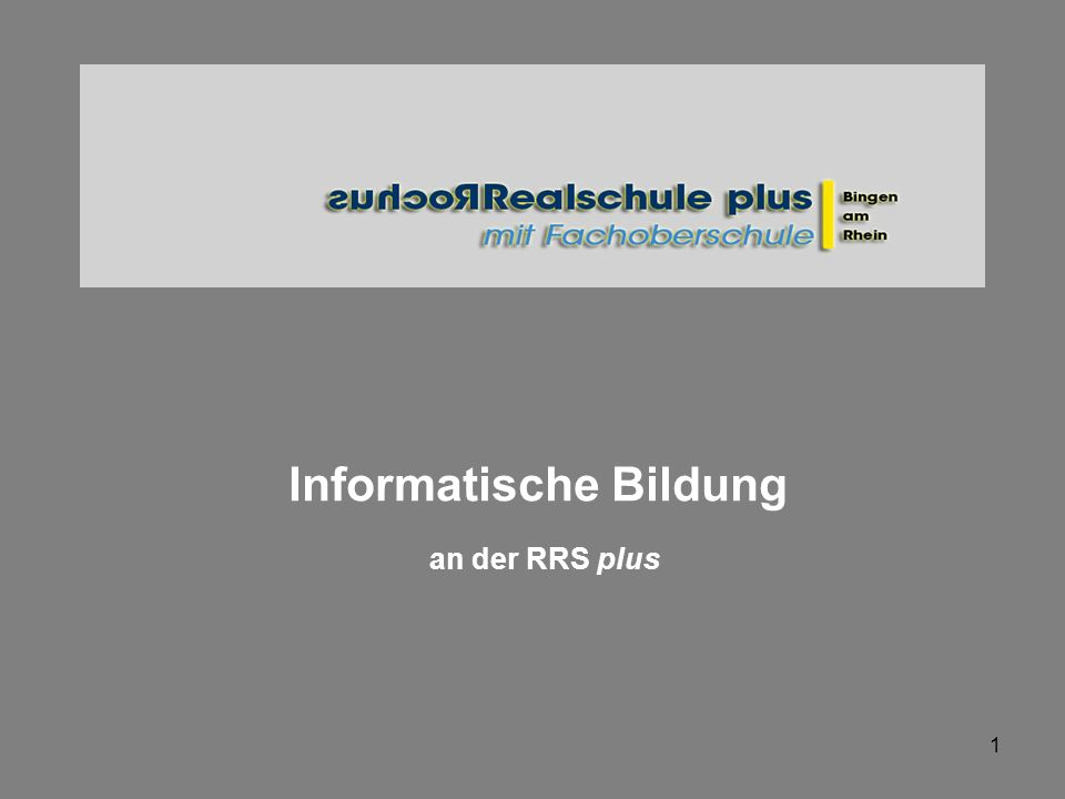 Informatische Bildung an der RRS plus