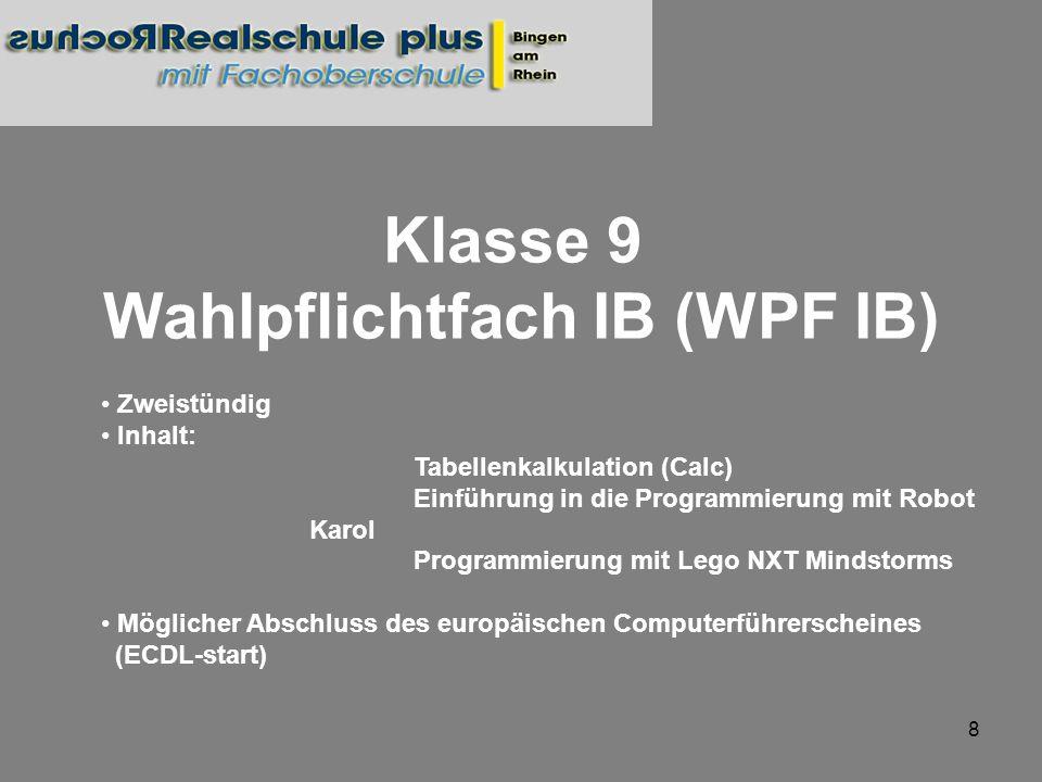Wahlpflichtfach IB (WPF IB)