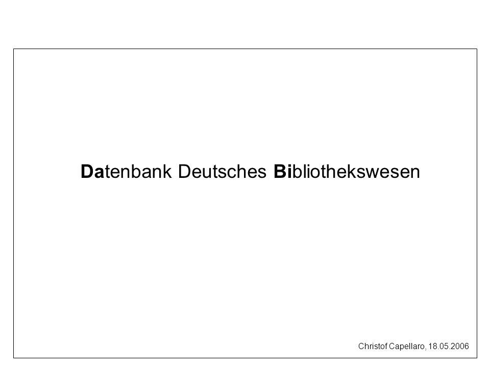 Datenbank Deutsches Bibliothekswesen