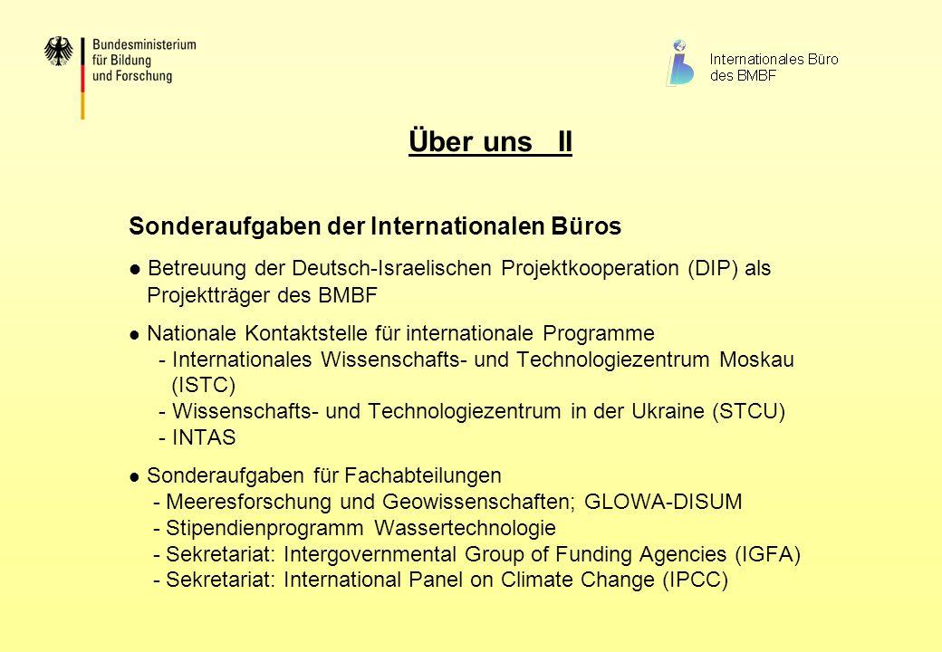 Sonderaufgaben der Internationalen Büros