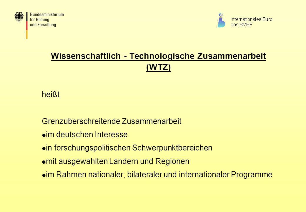 Wissenschaftlich - Technologische Zusammenarbeit (WTZ)