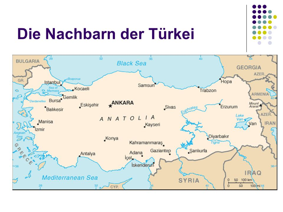 Die Nachbarn der Türkei