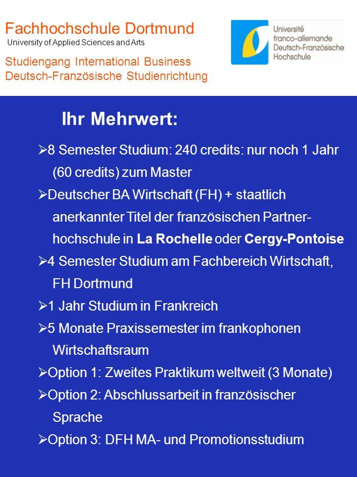Ihr Mehrwert: Fachhochschule Dortmund
