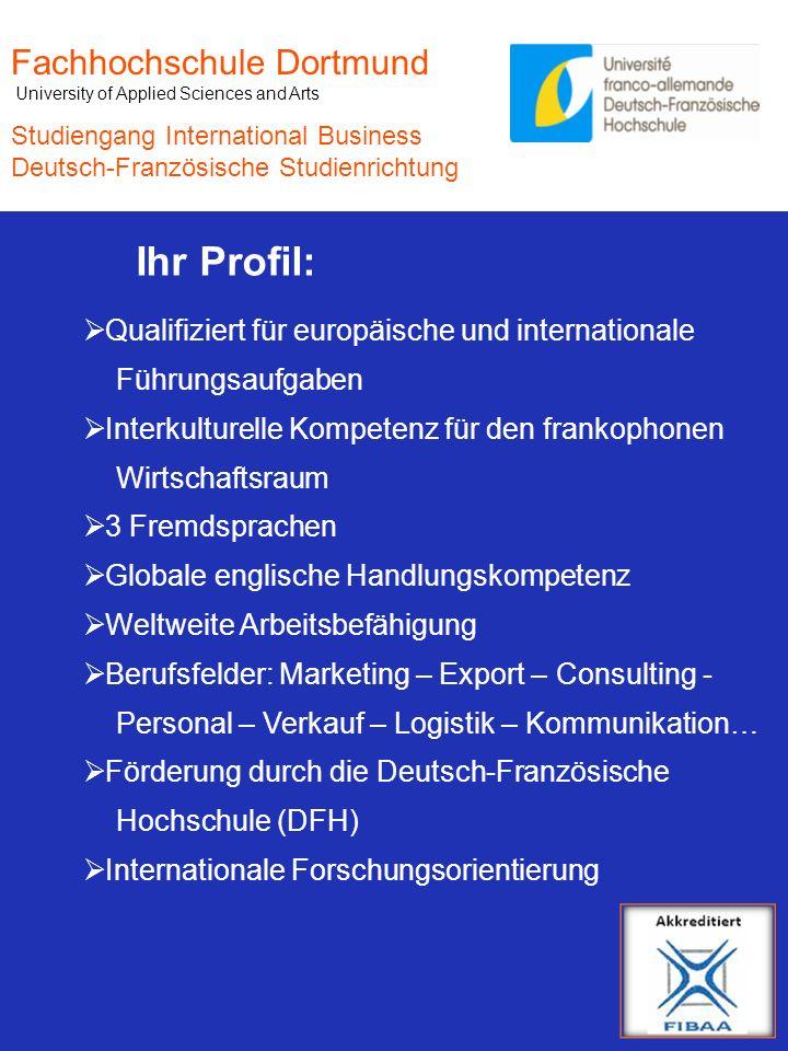 Ihr Profil: Fachhochschule Dortmund