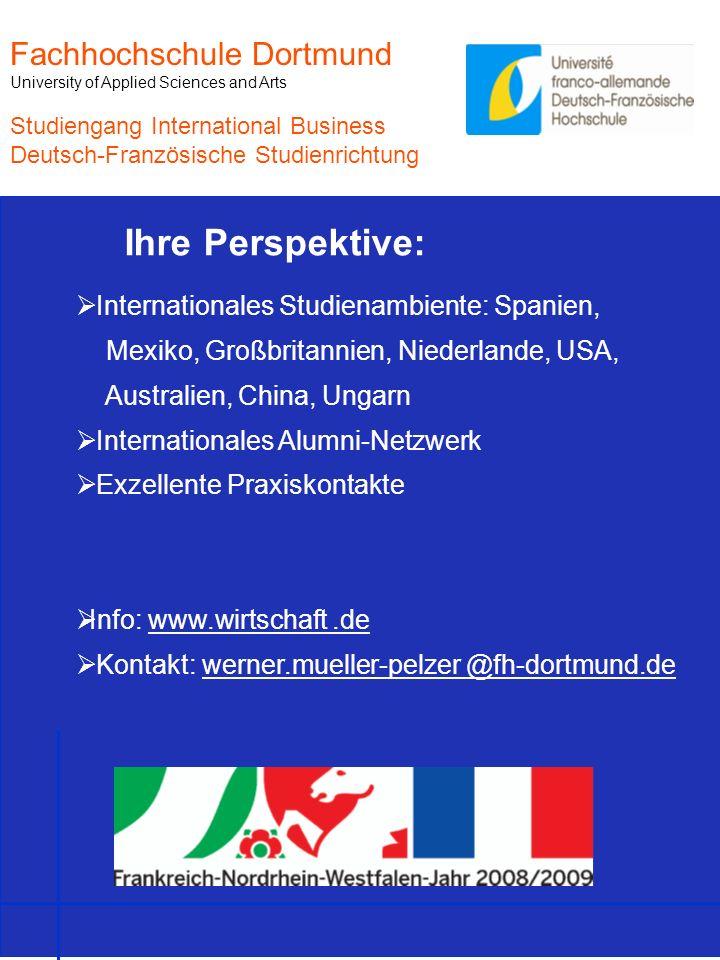 Ihre Perspektive: Fachhochschule Dortmund