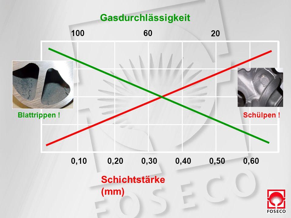 Gasdurchlässigkeit Schichtstärke (mm) 100 60 20 0,10 0,20 0,30 0,40
