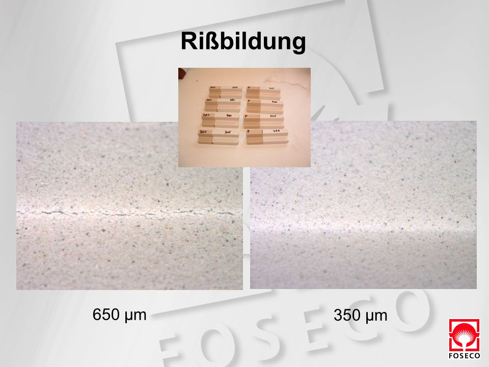 Rißbildung 650 µm 350 µm