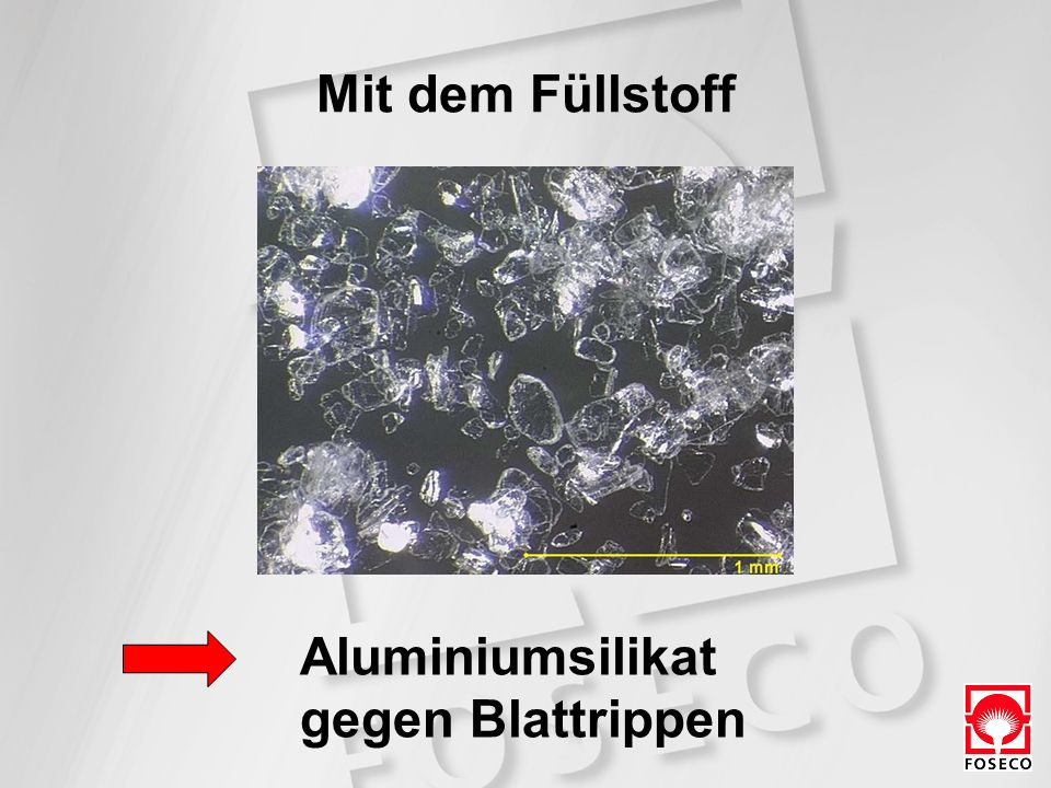 Mit dem Füllstoff Aluminiumsilikat gegen Blattrippen