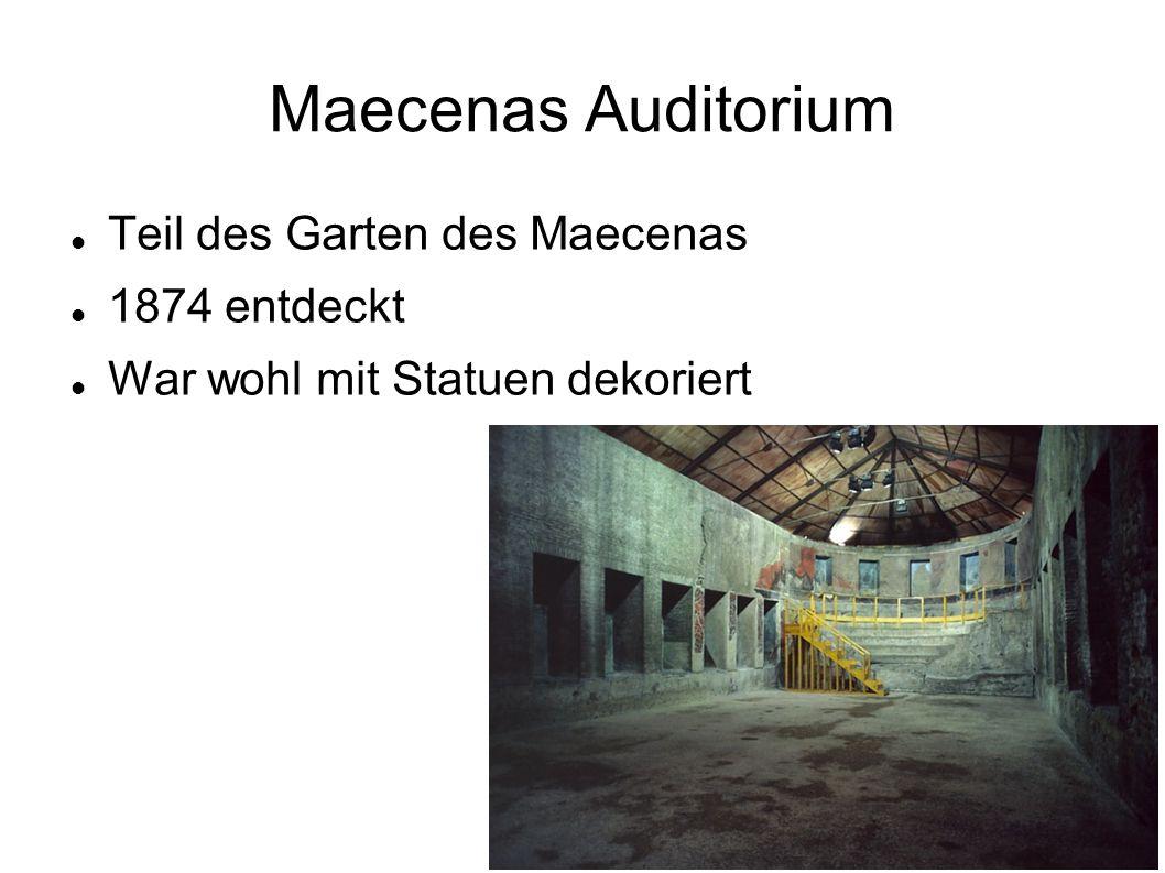 Maecenas Auditorium Teil des Garten des Maecenas 1874 entdeckt